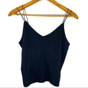 Wild Fable NWOT Black Strappy Cropped Tank…